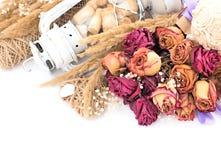 Винтажный состав высушенных цветков Стоковые Фотографии RF