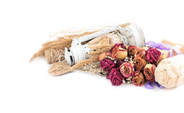 Винтажный состав высушенных цветков Стоковое Фото