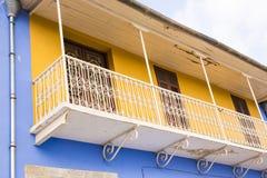 Винтажный старый балкон Стоковое Изображение