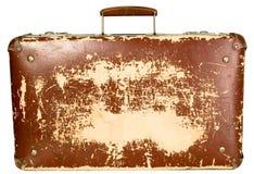 Винтажный старый коричневый чемодан стоковая фотография rf