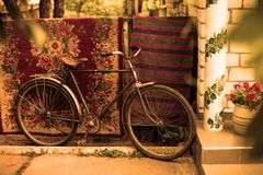 Винтажный старый советский велосипед Стоковое Изображение
