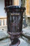Винтажный старый темный почтовый ящик металла Стоковое Изображение RF