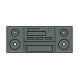 Винтажный стерео радио Стоковые Фотографии RF