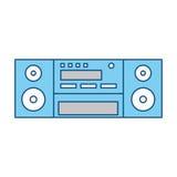 Винтажный стерео радио Стоковые Изображения RF