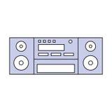 Винтажный стерео радио Стоковое фото RF