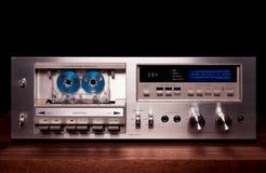 Винтажный стерео рекордер игрока палубы кассеты Стоковая Фотография RF