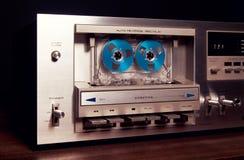 Винтажный стерео фронт рекордера игрока палубы кассеты - панель Стоковые Фото