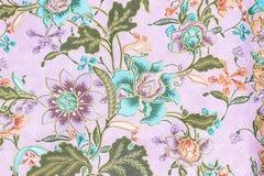 Винтажный стиль гобелена цветет предпосылка картины ткани Стоковое Изображение RF