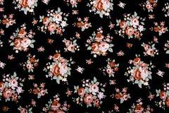 Винтажный стиль гобелена цветет предпосылка картины ткани Стоковая Фотография