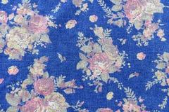 винтажный стиль гобелена цветет backgroun картины джинсов ткани Стоковое Изображение