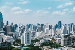 Винтажный стиль городского пейзажа Бангкока во времени дня Стоковая Фотография RF