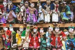 Винтажный стиль марионетки ремесленничества красочной, traditiona Мьянмы Стоковые Фото