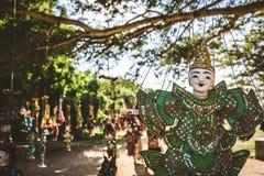Винтажный стиль марионетки ремесленничества, кукол Мьянмы традиционных Стоковое Фото