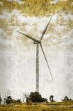 Винтажный стиль цвета ветротурбины Стоковые Фото