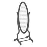 Винтажный стоящий ярлык зеркала Стоковое Фото