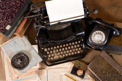 Винтажный стол офиса Стоковое Фото
