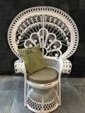 Винтажный стул при изолированная подушка, Стоковое Фото