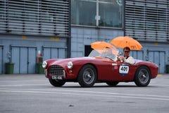 Винтажный суперкар в гонках ралли стоковая фотография