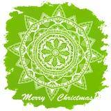 Винтажный с Рождеством Христовым и счастливый Новый Год Стоковое Фото
