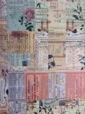 Винтажный текст бумаги картины Стоковые Фото