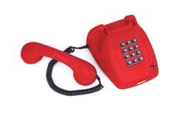 Винтажный телефон - красный цвет стоковое фото rf