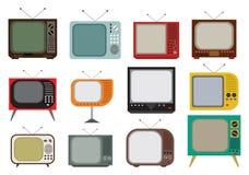 Винтажный телевизор стоковые фото