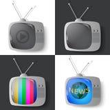 Винтажный телевизор Стоковое Изображение RF