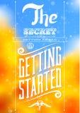 Винтажный типографский мотивационный плакат цитаты бесплатная иллюстрация