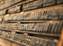 Винтажный тип блока letterpress руководства Стоковые Фото