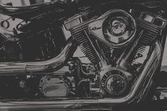 Винтажный тон двигателя мотоцикла тяпки стоковая фотография rf