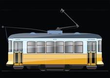 Винтажный трамвай иллюстрация штока