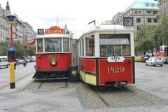 Винтажный трамвай Стоковая Фотография