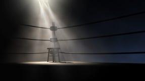 Винтажный угол и табуретка бокса иллюстрация штока