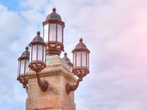 Винтажный уличный фонарь Стоковые Изображения