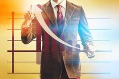 Винтажный успех продаж принципиальной схемы дела Стоковые Фотографии RF