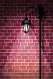 Винтажный уличный фонарь на ноче Стоковое Изображение