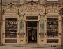 Винтажный фасад магазина стоковые фото