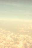 Винтажный фильтр, оранжевый взгляд конспекта Cloudscape Стоковые Изображения RF