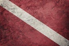 Винтажный флаг акваланга стиля Водолаз вниз сигнализирует стоковые фотографии rf