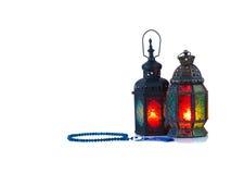 винтажный фонарик свечи в арабском стиле, пользе в kareem n ramadan Стоковое Изображение