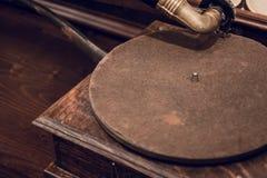 Винтажный фонограф или говоря машина Стоковое Изображение RF
