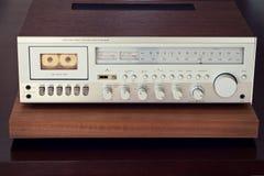 Винтажный фронт приемника палубы кассеты стерео Стоковые Изображения RF