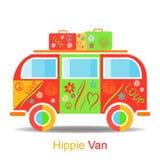 Винтажный фургон hippie Стоковое Изображение RF