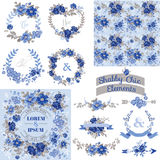 Винтажный флористический комплект Стоковое Изображение