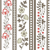 Винтажный флористический орнамент Стоковые Изображения RF