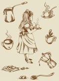 Винтажный чай и кофе Стоковые Изображения RF