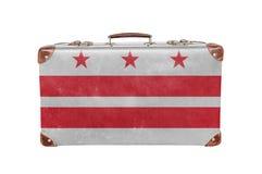 Винтажный чемодан с флагом Колумбии Стоковое фото RF