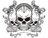 Винтажный череп Стоковые Фото