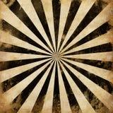 Винтажный черный Sunburst излучает иллюстрацию Стоковое Изображение