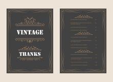 Винтажный шаблон вектора поздравительной открытки орнамента и ретро предпосылку дизайна приглашения, можно использовать для эффек стоковые фотографии rf